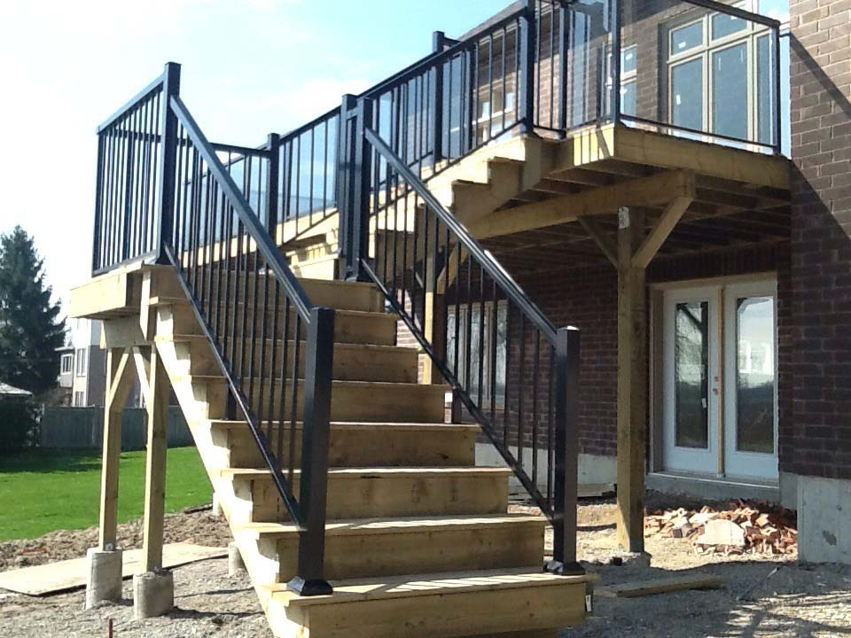 Exterior glass alba railings for Exterior glass railing